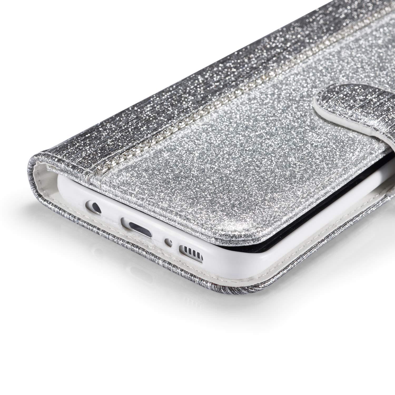 huphant 3D Gemalt kompatibel mit Samsung Galaxy J6 Plus 2018 handyh/ülle Glitzer Leder h/ülle Wallet Flip Schutzh/ülle mit Samsung Galaxy J6 Plus 2018 Ledertasche Kartenfach Geldklammer St/änd -Wolf