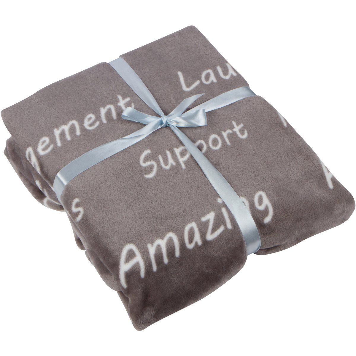 Healing Thoughts Throw Blanket - Inspiring Comforting Positive Words Get Well Gifts - Grey 50 x 60 - Gift Ready