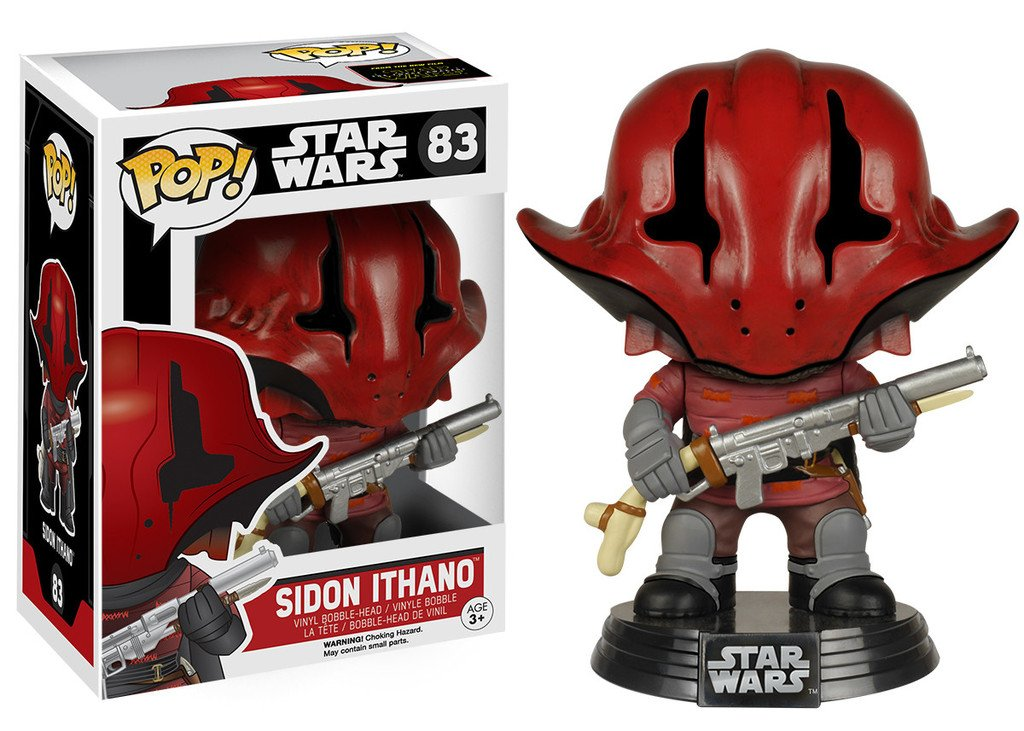 65829 1 Free Official Trading Card Bundle x Vinyl Bobble-Head Figure w// Stand Star Wars Sidon Ithano: Funko POP FUNKO//3065829