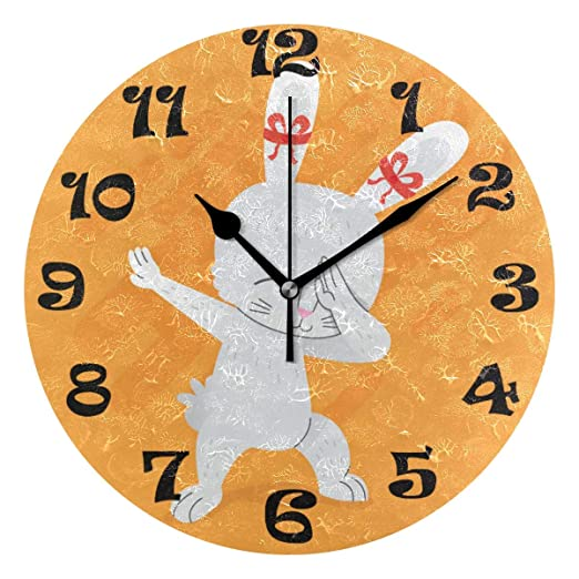 Zhgrong Lindo Reloj de Pared Digital de Oso y Ardilla de Jugador ...