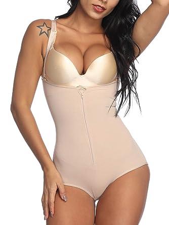 aad8314fa73d FeelinGirl Seamless Firm Tummy Control Shaper for Women Body Shapewear  Bodysuit,S