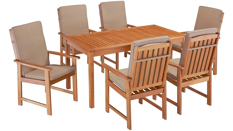 Gartenmobel Set Eukalyptusholz ~ Baumarkt direkt gartenmöbelset vancouver 13 tgl. 6 sessel tisch