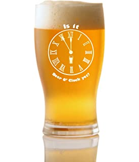 Personalised Engraved Pint Glass Cider O/'clock Beer O/'clock Lager O/'clock Gift
