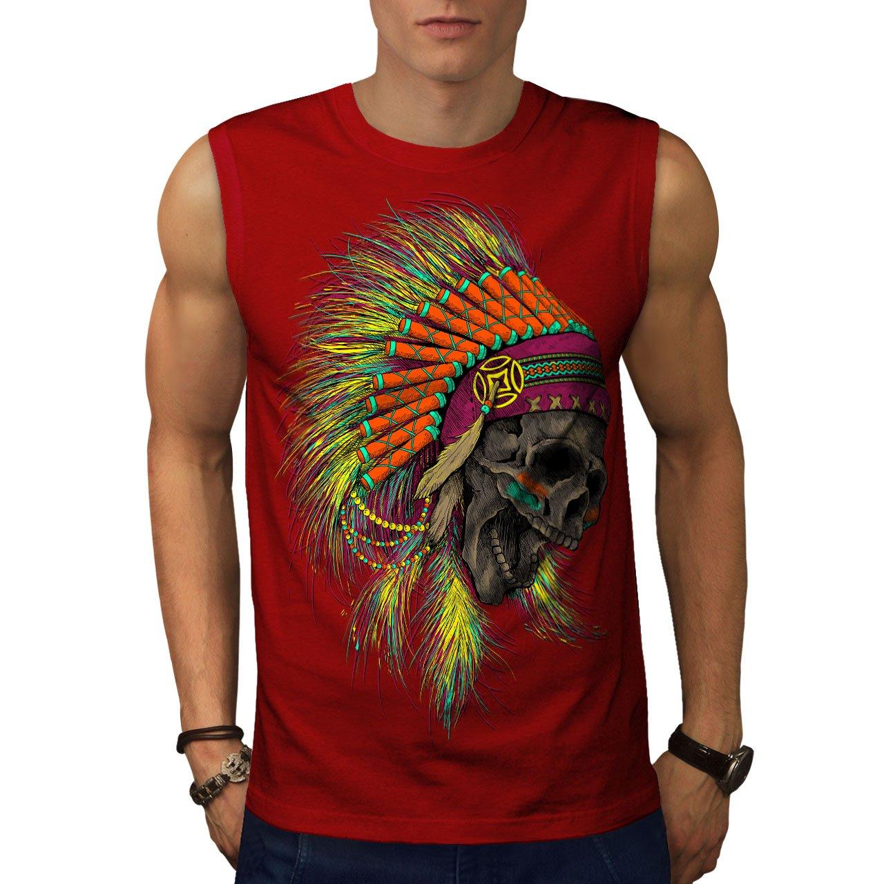 Wellcoda Mens Sleevless T-Shirt, 0 Active Top Shirt