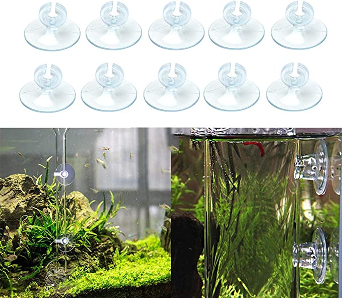 MCEO 10pcs Aquarium Fish Tank Suckers Suction Cups Holders Clips Clamps For 4//6mm AirLine Tube