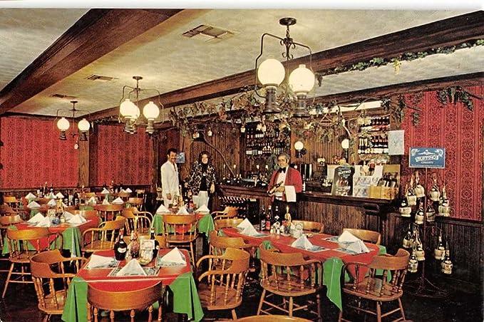 Webster Texas Little Italy Dining Room Vintage Postcard