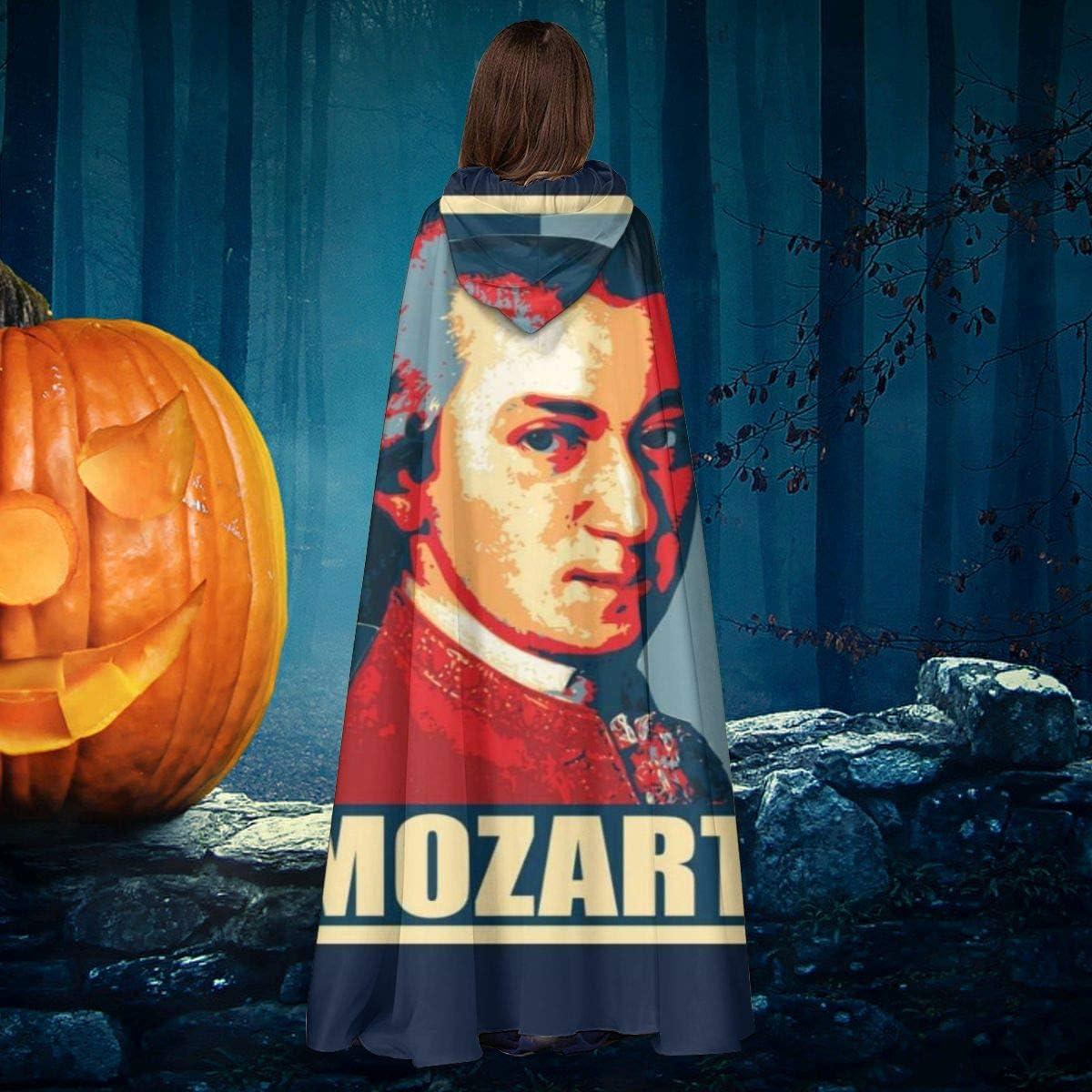 OJIPASD Mozart Propaganda Pop Art - Capa de Disfraz de Bruja con ...