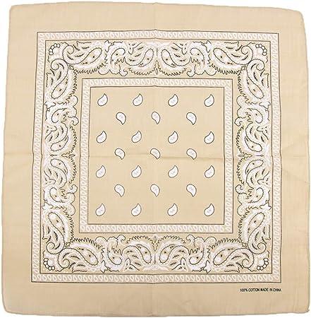 MZY1188 Paisley Bandana, pañuelo para Mujer/Hombre Pañuelo de Cabeza Pañuelo de algodón Pañuelo de Cuello Bufanda Pañuelo, Pañuelo de algodón multifunción: Amazon.es: Hogar