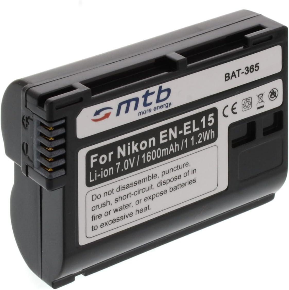 Ersatz Akku En El15 Für Nikon 1 V1 D600 D610 D800 Kamera