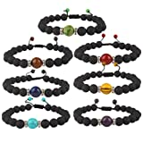 Amazon Price History for:YISSION 7 Pack 7 Chakras Stones Bracelet Stretch Bracelets Healing Power Adjustable Bracelet, Unisex