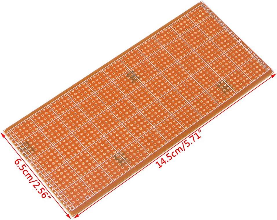 5x 6.5x14.5cm Stripboard Veroboard Uncut PCB Platine Single Side Circuit BoardS2
