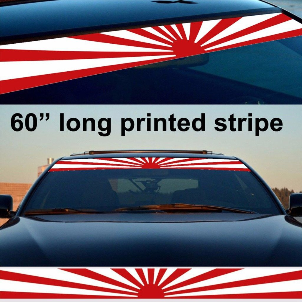 Kaizen windshield sticker banner decal vinyl rally window graphic jdm flag decal stripe sticker for toyota honda chevrolet ford mercedes benzaudibmw