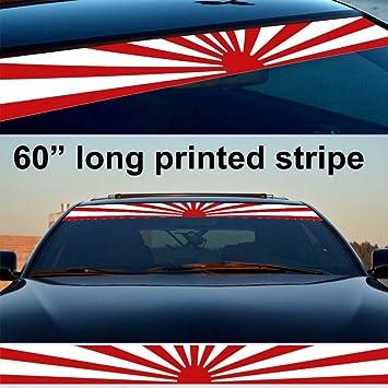 Kaizen windshield sticker banner decal vinyl rally window graphic jdm flag decal stripe sticker for toyota