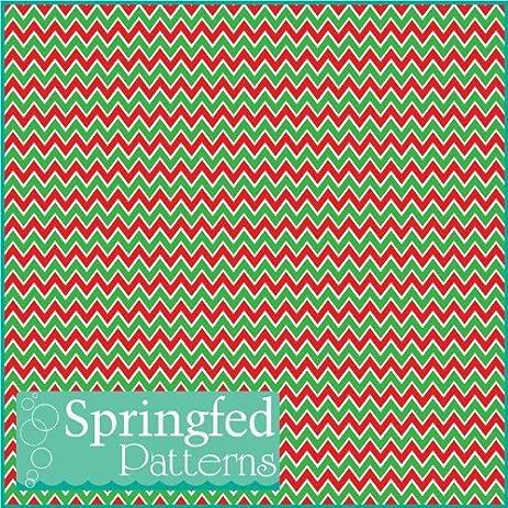 Amazon.com: CHEVRON STRIPES PATTERN #3 Christmas Colors Craft Vinyl ...