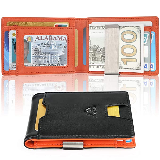 Amazon.com: Billetera delgada con clip para dinero, bolsillo ...
