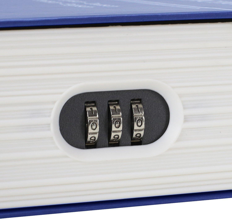 HMF 319-05 Livre Coffre-Fort English Dictionary Caisse a Monnaie Camoufl/ée Serrure /à Combinaison 23,5 x 15,5 x 5,5 cm Bleu