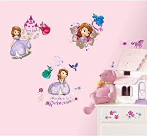 Disney Junior Sofia the First Wall Decals, 37 Count
