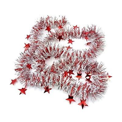 LUFA 2m Ornements de Noël avec Star Colorful Ribbon Garland pour décoration d'arbres de noel