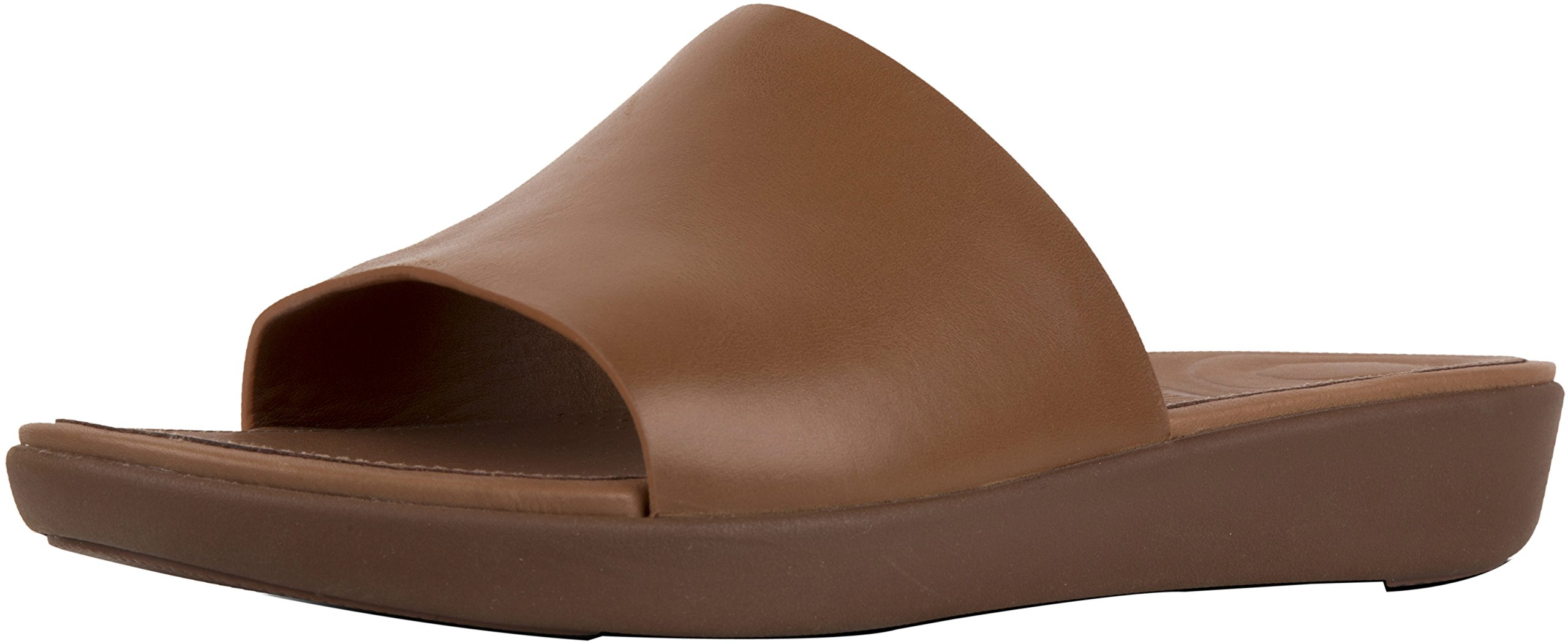 FitFlop Trade; Womens Sola&Trade; Slides - Leather Caramel Size 6