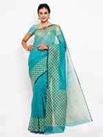 Roopkala Silks & Sarees Women's Cotton With Blouse Piece (Bp-109_Green)