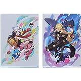 ポケモンセンターオリジナル A4クリアファイル2枚セット Pokémon Trainers ヒカリ&シロナ