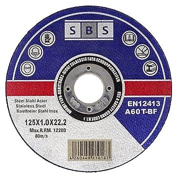 Neu 100 Stück SBS Inox Trennscheiben 125 x 1,0 mm: Amazon.de: Baumarkt VD56