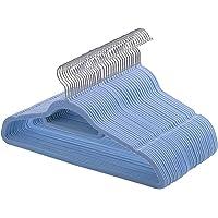 SONGMICS Cintres en Velours, Lot de 50, Crochet pivotant à 360°, Antidérapant, pour Costumes Chemises Robes Cravates