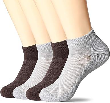 MD 4 Pares de calcetines tobilleros hombre Confortables Calcetines ...