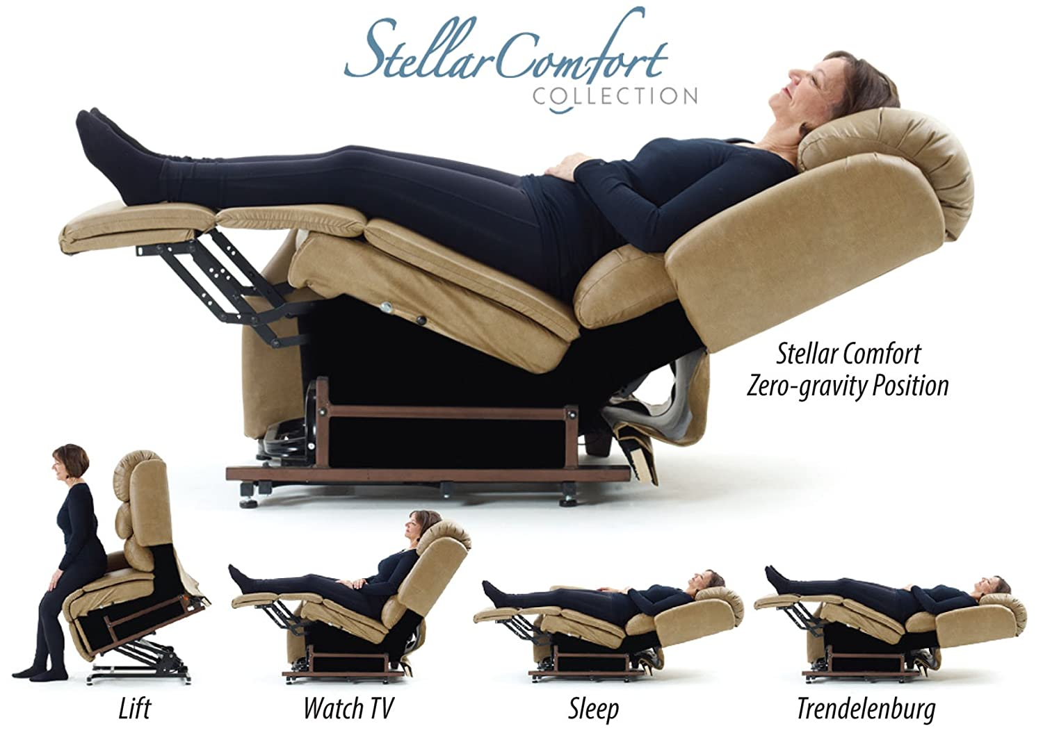 Amazon.com StellarComfort UC550-L Tall Zero Gravity Lift Chair Recliner - French Roast (Curbside Delivery) Health u0026 Personal Care  sc 1 st  Amazon.com : sleep recliner chair - islam-shia.org