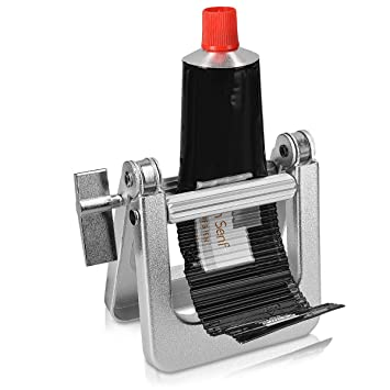 kwmobile Exprimidor de tubos metálico - Apretador de pasta de dientes crema pegamento pintura alimentos - Exprime tubo de plástico metal y aluminio: ...