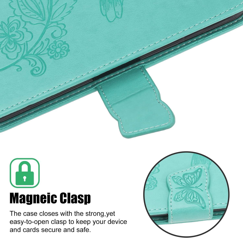 ZCXG Schmetterling H/ülle Kompatibel Mit Xiaomi Redmi K20 Pro H/ülle Blau Handyh/ülle Leder Muster Magnet H/ülle Silikon Schwarz Innere Tasche Brieftasche Damen Flip Cover Schutzh/ülle mit Kartenfach