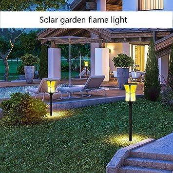 ZYRAY Luces solares al Aire Libre IP65 a Prueba de Agua Llamas ...