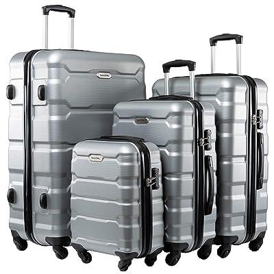 Seanshow 4 PCS Luggage Sets Spinner Lightweight Hardshell Suitacase Set