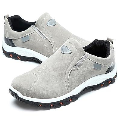 2ca721469aa7b5 Chaussures de Sports Homme Femme, Gracosy Chaussures Randonnée Multisport  Training Outdoor Sneaker Suède A Enfiler