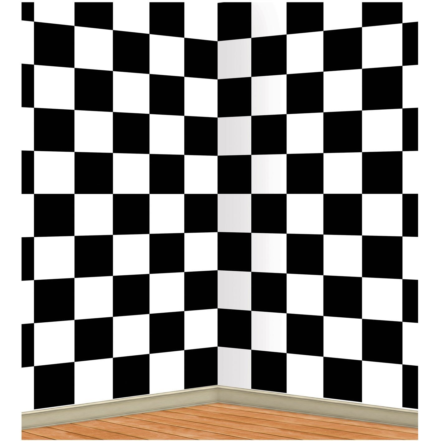 Checkered Backdrop Party Accessory (1 count) (1/Pkg) Pkg/12 by PMU