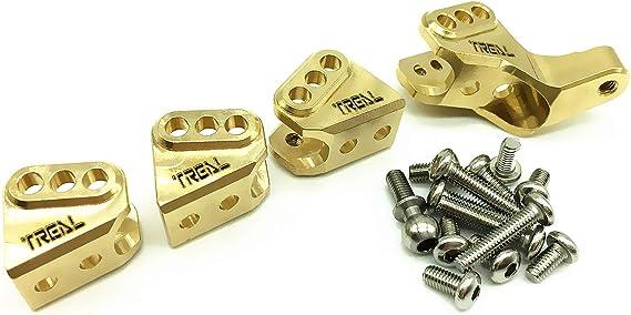 Black Treal Brass Axle Lower Link Mounts Set for Redcat Gen 8