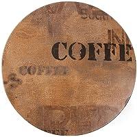 Werzalit plus alto gh996mesa redonda, 600mm diámetro, café