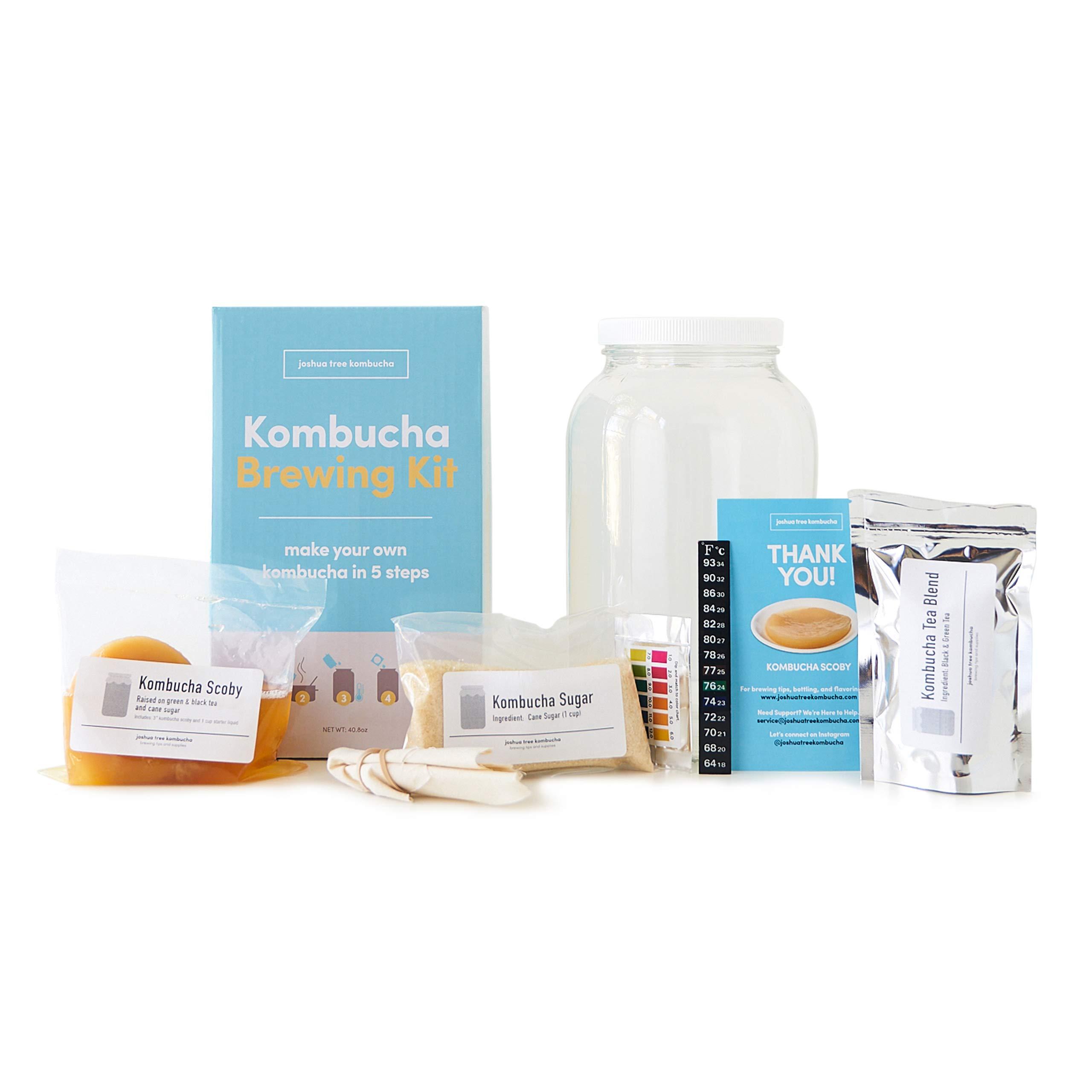 Kombucha Brewing Kit with Kombucha Scoby (Complete) by Joshua Tree Kombucha