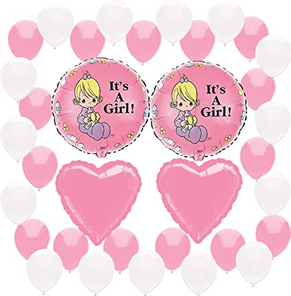 Amazon Com Precious Moments Baby Shower It S A Girl Pink