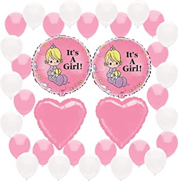 Amazon Com Precious Moments Baby Shower It S A Girl Pink Party