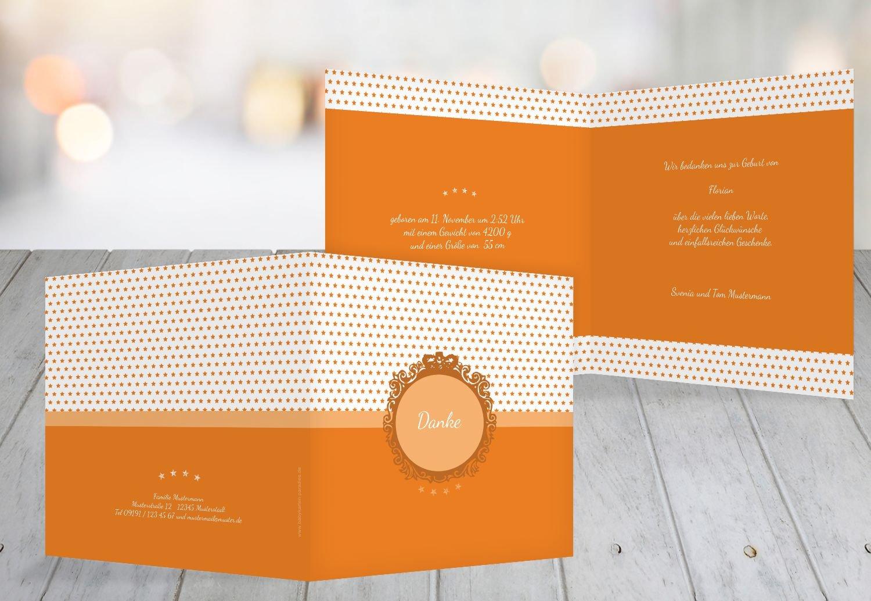 Kartenparadies Danksagung für Geburt Baby Dankeskarte Sternchen, hochwertige Danksagungskarte Baby inklusive Umschläge   100 Karten - (Format  145x145 mm) Farbe  braunmatsch B01N6WW5LZ | Ausgezeichneter Wert  | Haltbar  | Sale Outlet