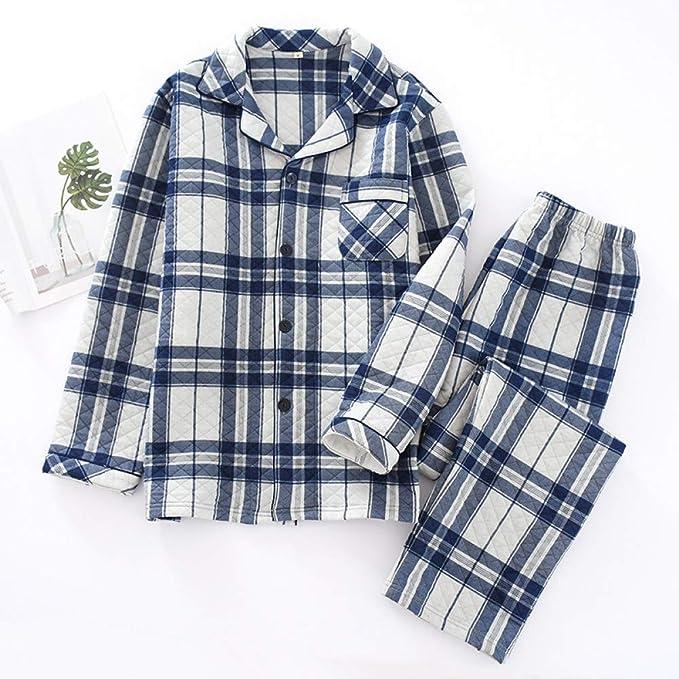 Conjuntos de Pijamas de Pareja de Cuadros Gruesos de Moda para ...