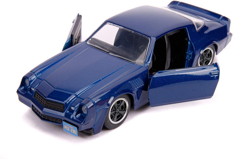 Billys Chevrolet Camaro Z28 Metálico Azul Oscuro Stranger Things (2016) TV Series Hollywood Rides 1/32 Diecast Model Car por Jada 31113: Amazon.es: Juguetes y juegos