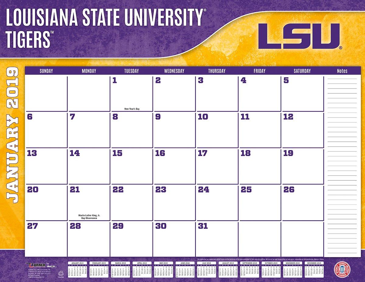 Lsu Calendar 2019 Amazon.: Turner 1 Sport LSU Tigers 2019 22X17 Desk Calendar