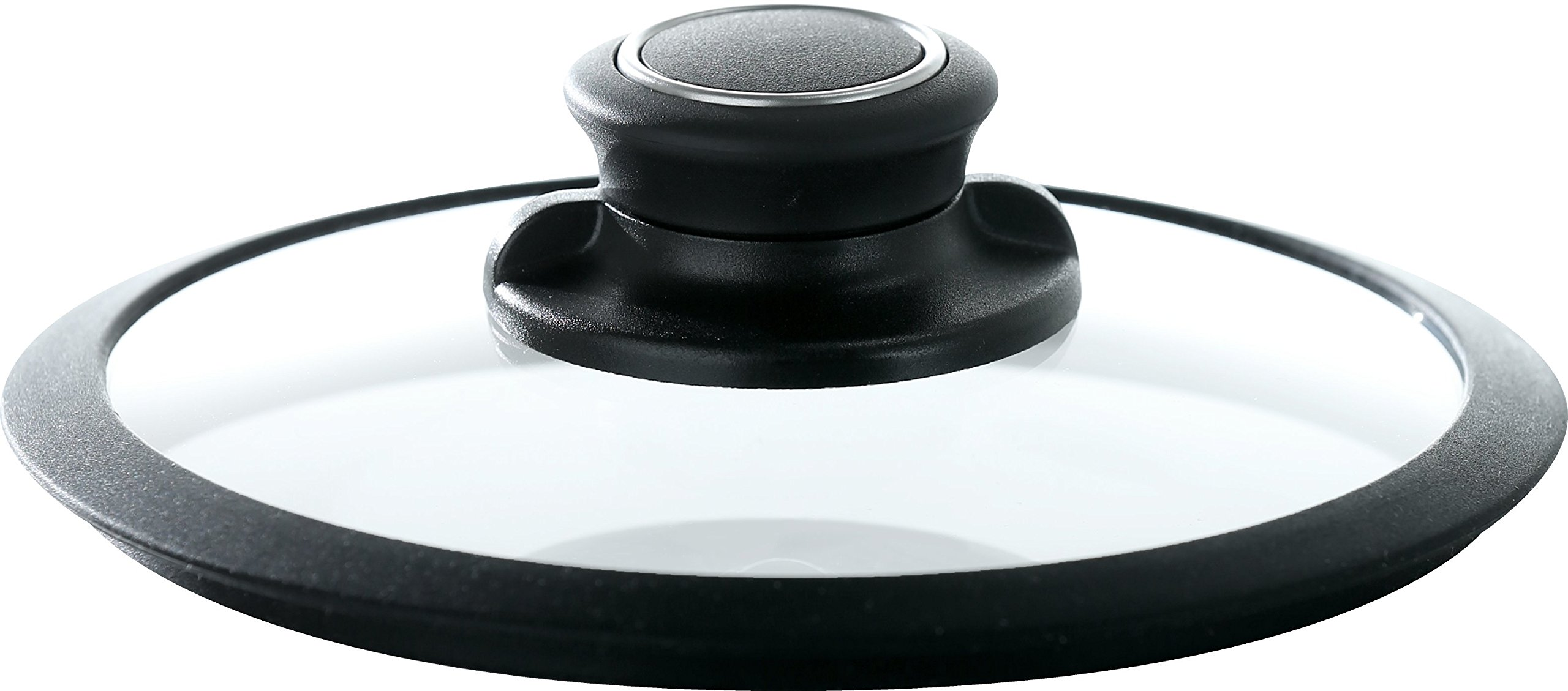 Frieling USA Black Cube Hybrid Stainless/Nonstick Cookware Tempered Glass Lid, 8-Inch Diameter