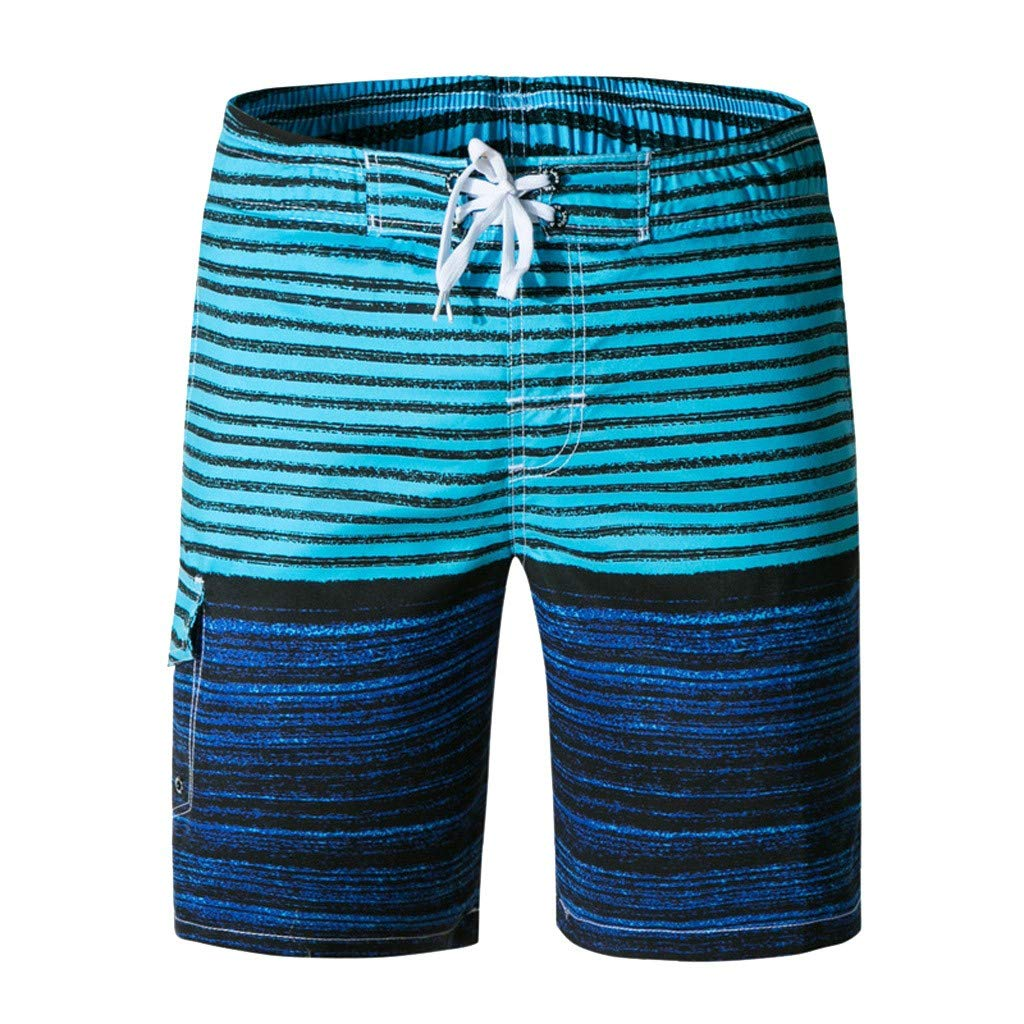 LEERYAAY Cargo/&Chinos Men Spring Summer Print Trunks Quick Dry Beach Surfing Running Short Pant