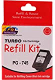 Canon PG 745 Black Ink Cartridge Refill for Pixma iP2870 iP2870S iP2872 MG3077s MG2470 MG2570 MG 2870 MX497 by Turbo