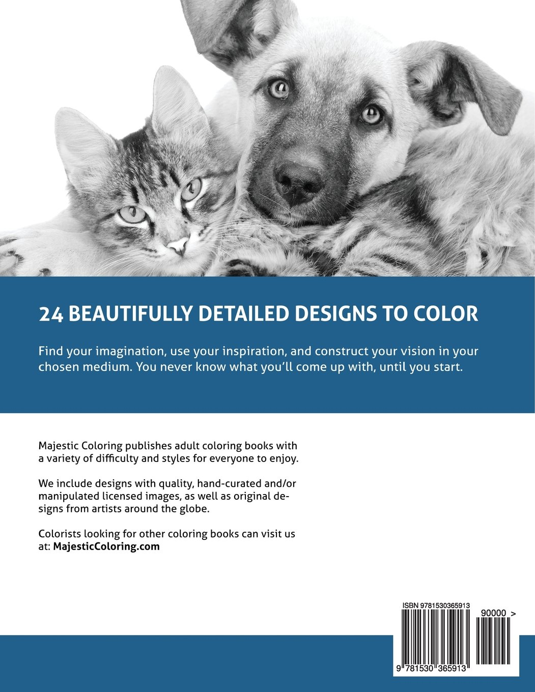 Amazon Funny Pets Grayscale Photo Coloring Book For Adults 9781530365913 Majestic Books