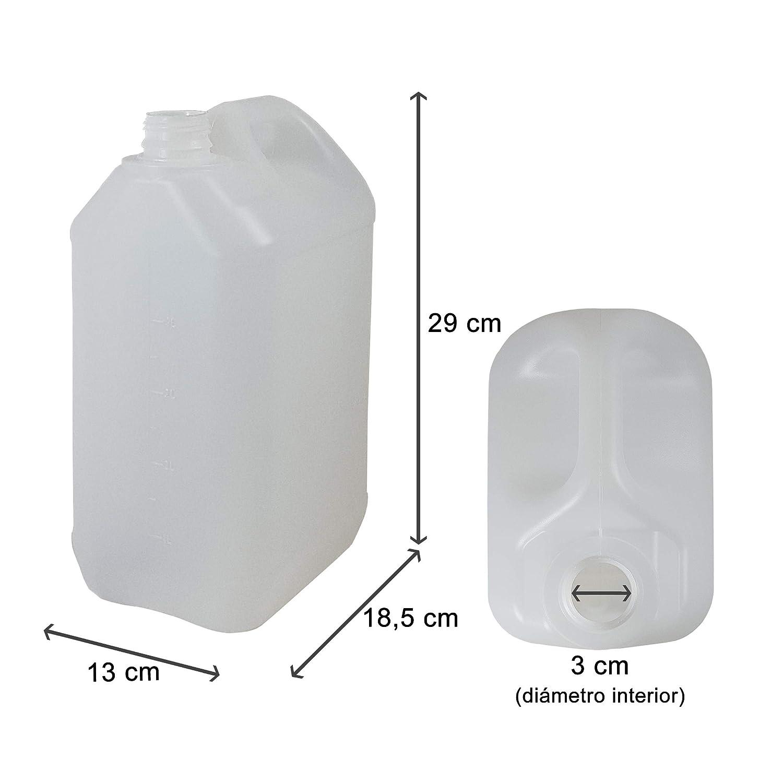 Homologado para transporte. Bid/ón Garrafa Pl/ástico 5 litros 4 Unidades
