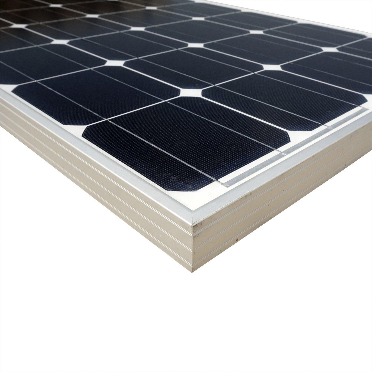 ECO-WORTHY 100 Watt Solar Panel 12 Volts Monocrystalline Solar Panel High Efficiency Mono Module RV Marine Boat Off Grid by ECO-WORTHY (Image #2)